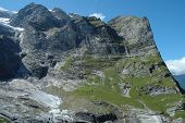 Arched Mountainside Nearby Grindelwald In Switzerland