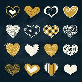 Artistic collection of hearts in assorted designs