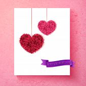 Loving Valentine card design with hearts