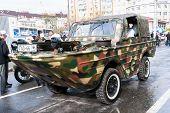 Floating car GAZ-46 before parade