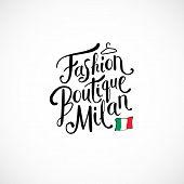 Fashion Boutique Milan Concept on White