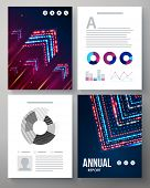 Dynamic vector template for an annual report