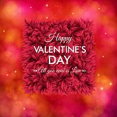 Tender floral red Valentines Day card design