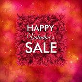 Happy Valentines Sale poster design