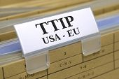 stock photo of free-trade  - TTIP free trade agreement betwenn USA and Europe - JPG