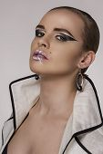 foto of fine art portrait  - Studio femail portrait make up and art - JPG