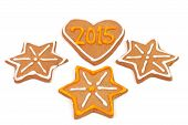 Homemade New Year Cookies - 2015 Number