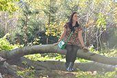 Woman In Forrest