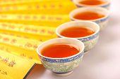 Tea ceremony still life isolated on white
