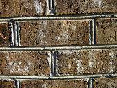 stock photo of blunt  - Wall made of porous and rectangular bricks - JPG
