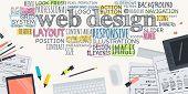 Flat design illustration concept for web design