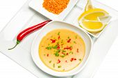 image of tripe  - Mercimek Corbasi is a traditional Turkish lentil soup - JPG