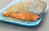 Herbs And Spices On Salmon Steak