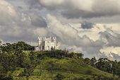pic of sm  - Church of St. Anthony of Padua, the patron saint of Botucatu city (Brazil), located on the hill of Rubi�o Junior. This is the iconic symbol of Botucatu city and it presents a panoramic view of the entire region.