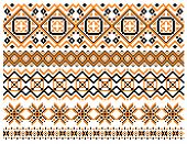 Geometric embroidery borders and frames