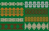 Celtic linear borders and ornaments