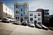 Cars Parked on Steep San Francisco