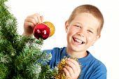 Christmas And Young Boy