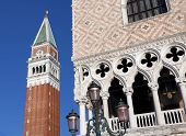 Venice Italy Doges Palace And St Mark Bell Tower