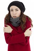 Woman Shivering Because Of Cold