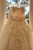 Gorgeous detail of hand sewn wedding dress