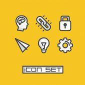 Icons set ideas. Vector illustration