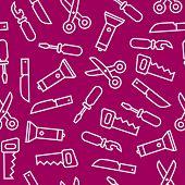 Flat swiss knife tools seamles pattern