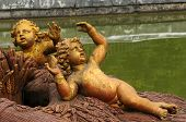 pic of versaille  - France bronze statue in the park of Versailles Palace - JPG