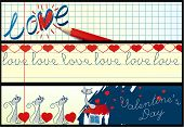 Valentine school banners