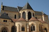 France, The Exterior Of The Pontoise Cathedral