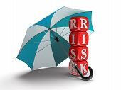Dices with Risk under Umbrella (clipping path included)