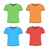men's short sleeve t-shirt design templates