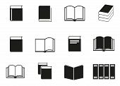 Simple set of book related vector icons for your design.