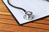 Stethoscope And Printout