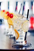 foto of collins  - The Tom Collins is a Collins cocktail made from gin lemon juice sugar and carbonated water - JPG