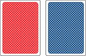 picture of red back  - Back sides of poker cards in blue and red - JPG