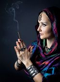 Woman With Incense