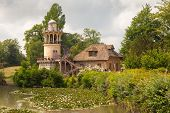 foto of versaille  - Marlborough Tower on the farm of Marie Antoinette in the park of Versailles palace - JPG