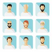Set Of Vector Casual Characters In Flat Design.