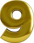Gold Number Nine - 9