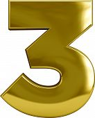 Gold Number 3 (three)