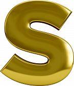 Gold Letter S