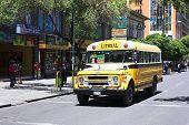 Old Chevrolet Bus in La Paz, Bolivia
