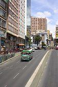 Villazon Avenue and Plaza del Estudiante in La Paz, Bolivia