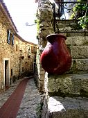 Red Pottery In Old Village