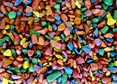 Scattered Small Bright Colored Stones