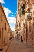 Maltese narrow street in Valetta