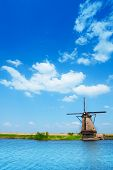 Image of windmill in Netherlands near Rotterdam