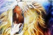 Lion Fractal  Abstract Cosmical Background fractal efect