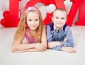 Children's  love. Decoration for celebration. Valentine's, mother's day or weddings